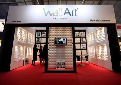 Tấm ốp tường 3D WallArt tại Triển lãm Quốc tế VietBuild lần 3 2016