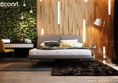 Cách sử dụng tấm gỗ mosaic 3d Acor để trang trí phòng ngủ