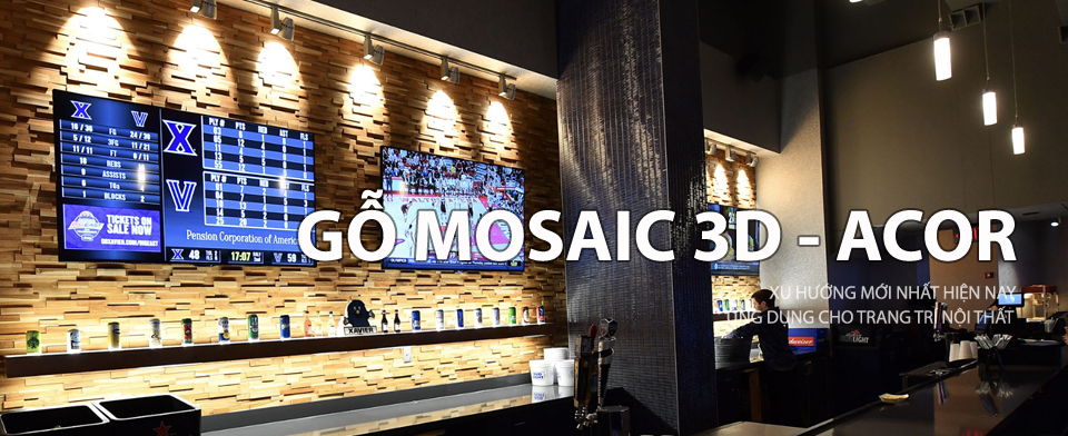 mosaic gỗ 3d Acor